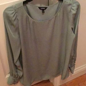 Express sage green blouse